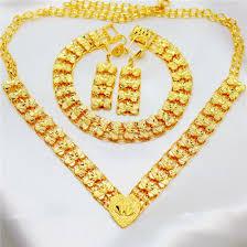 free shipping 3 pieces set 24k handmade in hongkong gold shop