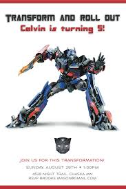 Create Birthday Invitation Cards Transformers Birthday Invitations Kawaiitheo Com