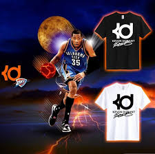 k d round neck men 100 cotton tee shirt kevin durant kd printing