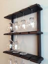 fabulous wine glass rack for wall wine glasses racks holder wall