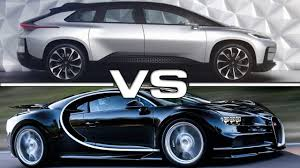 future bugatti truck 2018 faraday future ff91 vs 2018 bugatti chiron youtube