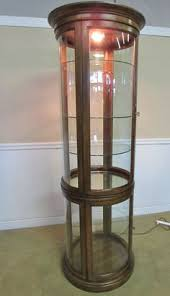 Glass Curio Cabinet With Lights Platinum Cylindrical Glass Door Curio Glass Doors Doors And Glass