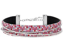 swarovski dog necklace images Ludic necklace multi colored rhodium plating sale swarovski jpg
