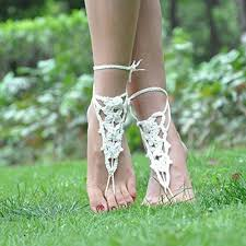 wedding shoes mall 2 pairs 1 black 1 white crochet barefoot sandals pool