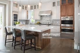 hanging lights kitchen island pendant lights modern white kitchen island stock photo