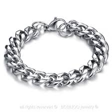 man chain bracelet images Curb chain bracelet male female mixed stainless steel chrome chain jpg