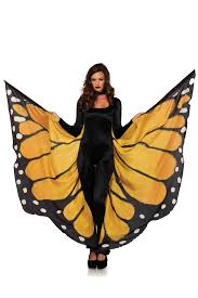 festival monarch butterfly wing halter cape with wrist straps and