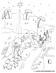 nativity scene coloring page create a printout or activity