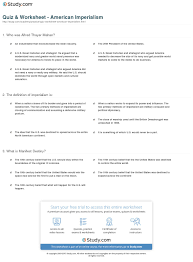 quiz u0026 worksheet american imperialism study com