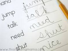 western australian handwriting worksheets google search road