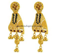 kerala earrings gold earrings from kerala jewellers south india jewels