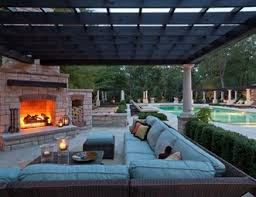 Outdoor Fireplace Patio Designs Chic Outdoor Fireplace Patio For Luxury Home Interior Designing