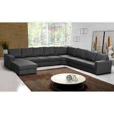 canapé d angle 9 places oara gris moderne pas cher