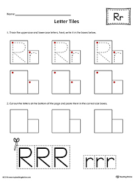 trace letter r and connect pictures worksheet myteachingstation com