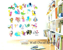 Wall Letter Decals For Nursery Wall Letter Decals For Nursery Plus Alphabet For Wall Decor