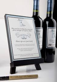 wine bottle guestbook wine wedding guestbook guests sign the bottle of wine for the