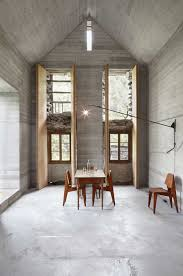 200 year old house with renovated concrete interior
