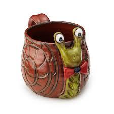 shelldon the snail mug animal mug uncommongoods