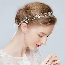 prom hair accessories shiny rhinestone ribbon headbands wedding bridal pageant