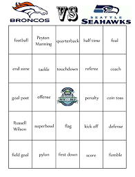 here u0027s a fun superbowl bingo for the little ones to play during