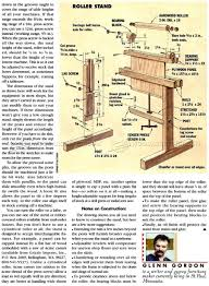 roller stand plans u2022 woodarchivist