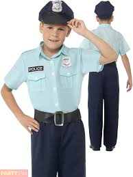 Police Halloween Costume Kids Childrens Police Officer Policeman Costume Boys Pc Fancy Dress