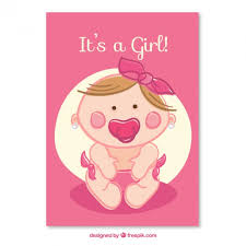 baby girl cards baby girl card vector free