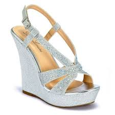 silver wedding shoes wedges by lorraine http www bellissimabridalshoes