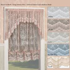 juliette lace balloon shade window treatment