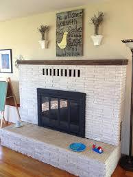 interior whitewash stone whitewashing brick fireplace paint