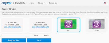 buy digital gift cards buy itunes gift cards from paypal s digital gifts store