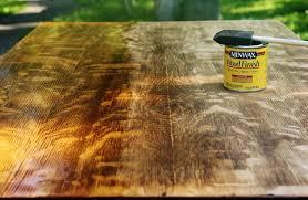 staining a table top refinishing a table thistlewood farm