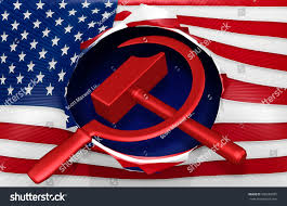 Russian Flag With Hammer And Sickle American Flag Hammer Sickle 3d Illustration Stock Illustration