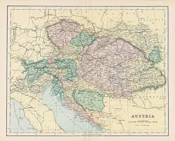 Old Europe Map by Old And Antique Prints And Maps Austria Map 1896 Europe