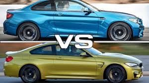 Bmw M2 2014 2016 Bmw M2 Coupe Vs 2015 Bmw M4 Coupe Youtube