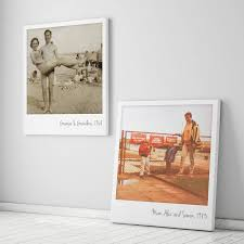 personalised giant retro style photo canvas by the drifting bear