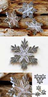 495 best quilled snowflakes and ornaments images on