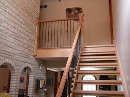 wood stairs and rails and iron balusters wood stairs and handrail