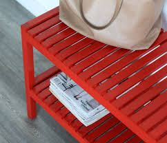 Red Entryway Bench by Entryway Bench Makeover With Ace Hardware Pretty U0026 Fun