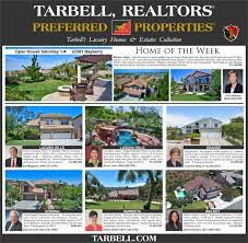 socal dream homes from tarbell u0027s preferred properties division