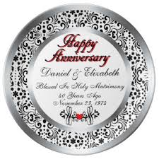 personalized anniversary plate 40th anniversary plates zazzle