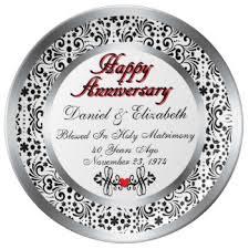 anniversary plates 50th anniversary 40th anniversary plates zazzle
