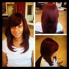 full sew in weave with no hair out burgundy sew in weave hairstyles ladies haircuts styling