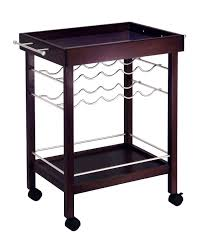 bar cart mirror top wine rack ojcommerce