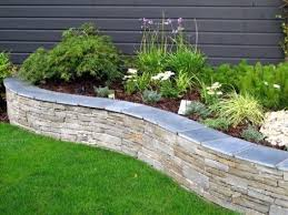 How To Build A Rock Garden Bed Grey Sandstone Raised Bed With Limestone Capping Create Stylish