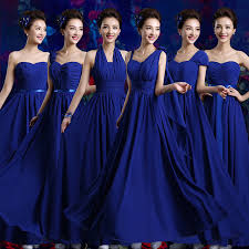 royal blue chiffon bridesmaid dresses 2017 new arrival bridesmaid dress formal gown