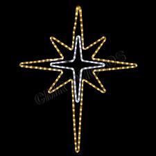 led gold bethlehem rope light yard motif silhouette display
