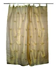 com 2 india curtains organza golden fl mirror embroidered curtains sheer