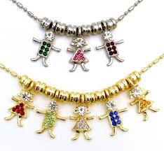 mothers necklace charms mothers necklace with kids birthstones 124 best names