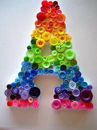 alphabet button craft ideas 3d origami for kids